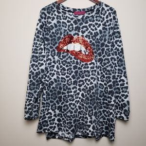 🆕️MELISSA MASSE Plus Size Animal Print Sweatshirt